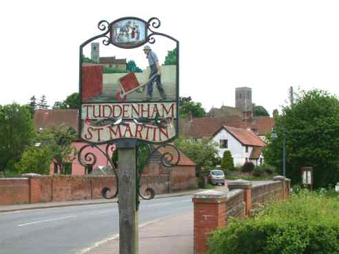 Village Sign of Tuddenham St Martin, Suffolk